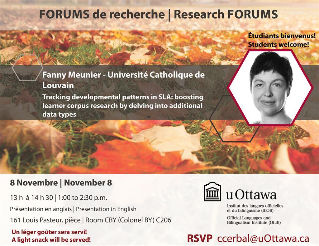 Le forum de recherche de Fanny Meunier